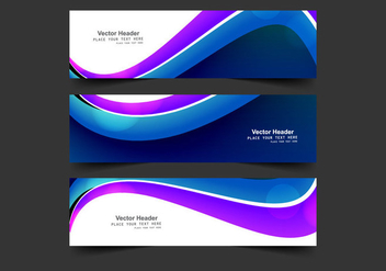 Abstract Header For Business Card - vector gratuit #354939