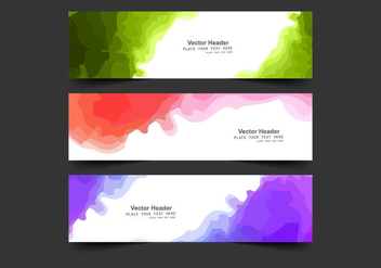 Header With Watercolor Stain - vector gratuit #354949