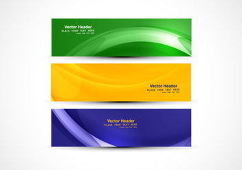 Headers With American Flag Color - vector gratuit #354999