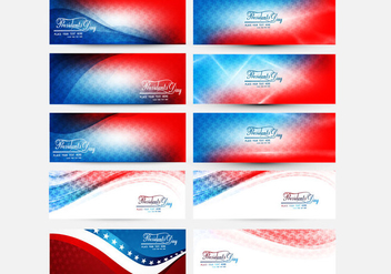 Collections Of President Day Banner - vector #355009 gratis