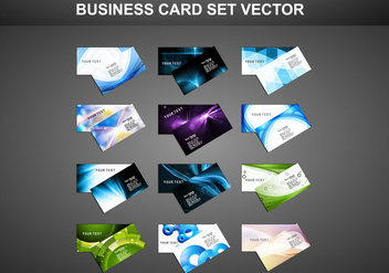 Business Card On Gray Background - vector gratuit #355039