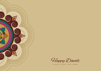 Rangoli For Diwali Celebration - Free vector #355059