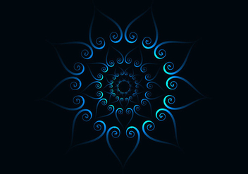 Abstract Blue Concentric Pattern - Kostenloses vector #355069