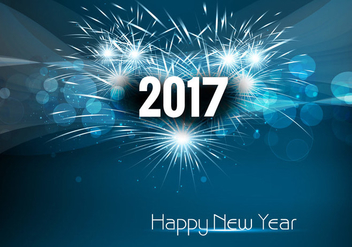 2017 Happy New Year Celebration - vector gratuit #355089