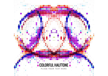 Abstract Colorful Halftone - Kostenloses vector #355129