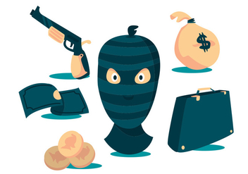 Robber Vector Set - бесплатный vector #355179