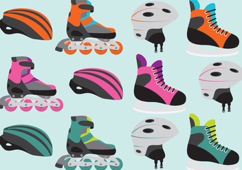 Roller Skate Vector Items - бесплатный vector #355189
