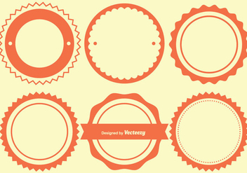Vector Badge Shape Set - vector gratuit #355199