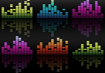 Free Vector Bright Equalizers Over Black Background - бесплатный vector #355269