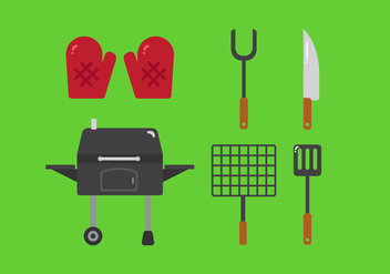 Vector Family Picnic Grill Elements - бесплатный vector #355309