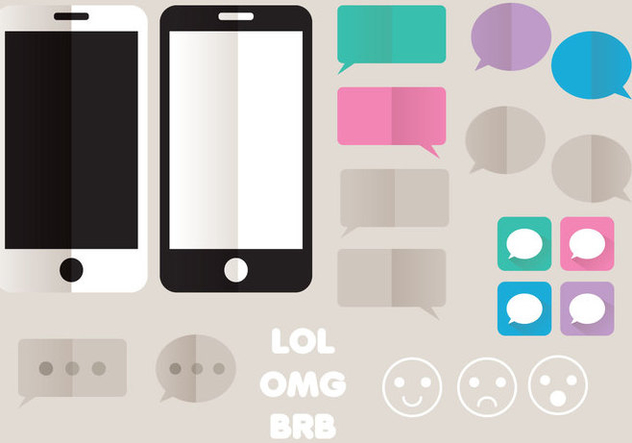 iMessage Style Icon Set - vector gratuit #355359