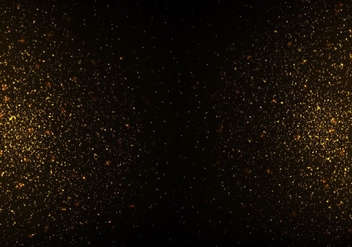 Free Strass Vector, Gold Glitter Texture On Black Background - Kostenloses vector #355369