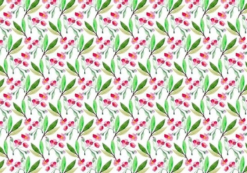 Free Vector Watercolor Cherry Blossom Pattern - Free vector #355379