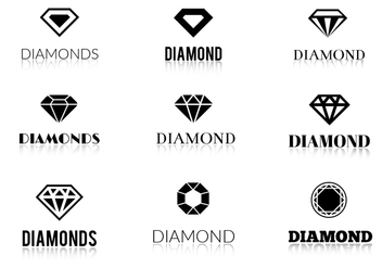 Free Vector Diamonds Logos - vector gratuit #355389