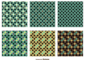 Retro Vector Pattern Set - Kostenloses vector #355419