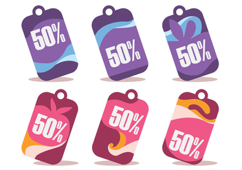 50% Off Wobbler Vector Set - vector gratuit #355459