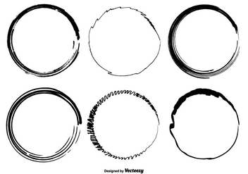 Hand Drawn Circle Vector Shapes - vector gratuit #355519