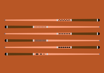 Pool Sticks Vector Set - vector gratuit #355589
