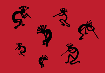 Kokopelli Illustrations - vector #355599 gratis