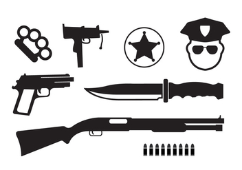 Minimal Crime Vector Icons - Free vector #355649