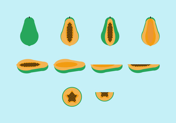 Free Papaya Vector Pack - vector gratuit #355679