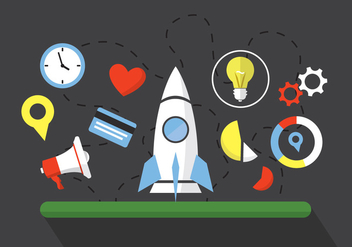 Flat Vector Start Up Illustrations - vector gratuit #355719