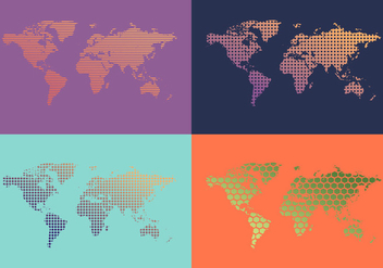 Free World Map Patterns Vector - vector gratuit #355729