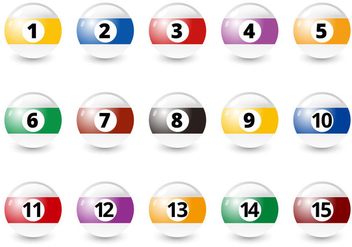 Free Billiard Balls Vector - бесплатный vector #355739