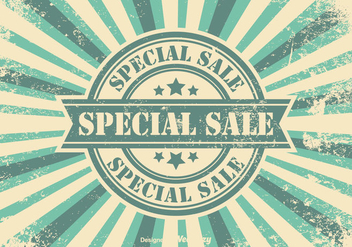 Promotional Sales Retro Background - vector #355789 gratis