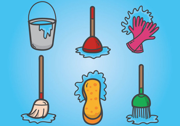 Spring Cleaning Vectors - Free vector #355849