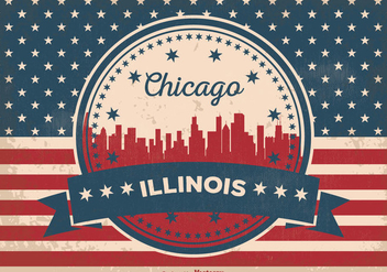 Chicago Illinois Skyline Illustration - бесплатный vector #355939