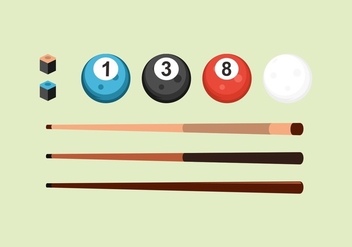 FREE POOL STICKS VECTOR - vector gratuit #355949