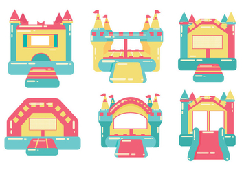 Bounce House Vector - vector gratuit #355979