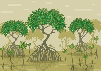 Mangrove Vector Forest - Free vector #356009