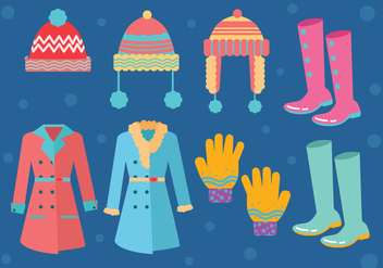Winter Coat Vector - бесплатный vector #356029