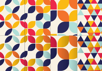 Bauhaus Inspired Pattern Set - vector gratuit #356069