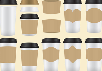 Vector Coffee Sleeves - vector #356089 gratis