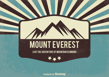 Retro Style Everest Background - vector gratuit #356099