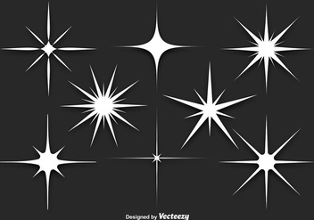White Sparkles Vector Set - бесплатный vector #356129