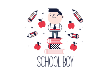 Free School Boy Vector - бесплатный vector #356139