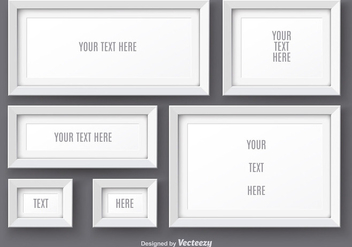 White Realistic Photo Frame Vectors - vector gratuit #356149