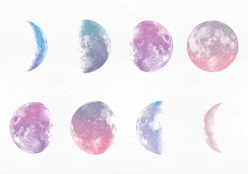 Vector Moon Phases - Free vector #356159