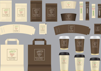 Vector Gourmet Coffee Shop Templates - Free vector #356169