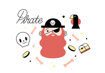 Free pirate vector - Free vector #356189