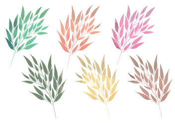 Vector Watercolor Branches - vector gratuit #356209