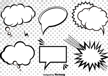 Cartoon Vector Speech Bubbles - бесплатный vector #356219