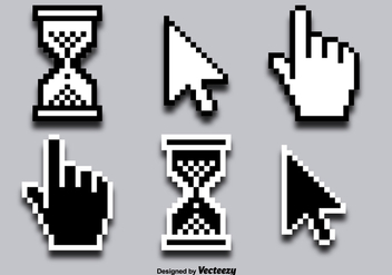 Mouse Click Cursor Vector Icons - бесплатный vector #356299