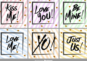 Brushed Love Vector Labels - бесплатный vector #356339