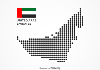 Free Dotted UAE Map Vector - бесплатный vector #356349