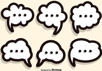 Callout Speech Bubble Vector Set - бесплатный vector #356359